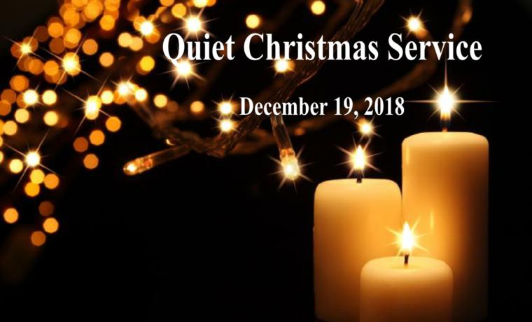 A Quiet Christmas Service